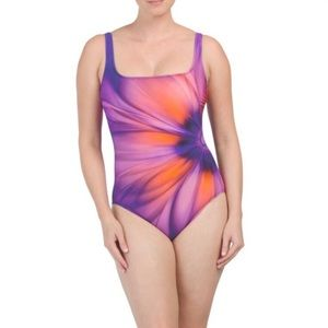 Gottex Flower One-piece Sunburst Swim suit